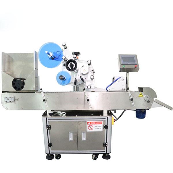 Máquina etiquetadora automática de etiquetas adhesivas de viales horizontales