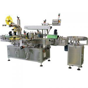 La máquina de etiquetado de leche embotellada se conecta a la línea de envasado