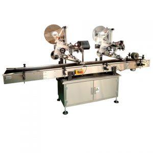 Máquina de etiquetado lateral y superior de tarro de aceite de aguacate