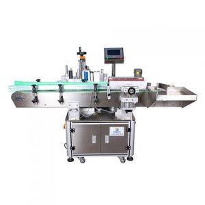 Máquina etiquetadora automática de cajas de crema facial lateral superior