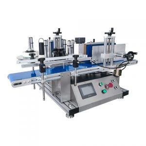 Máquina de etiquetado de etiquetas adhesivas de botella plana de glicerina de plástico