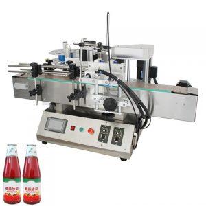 Fabricante de botellas de doble cara frontal y posterior etiquetadora